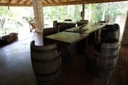 Spisestedet (the Gazebo) hvor vi holder vores morgenmadsmøde inden arbejdsdagen starter. Det gør ingenting, at det er åbent, for her bliver aldrig mindre end 20 Grader hele året rundt!