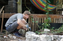 Building a dry stone wall with Geremy from France.
