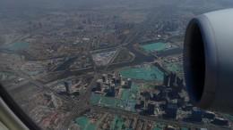 Anflug Peking