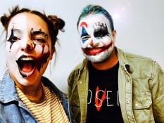 Alles zwischen Pantomime und Joker