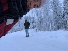 Bisschen im Schnee posen