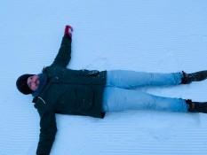 Bisschen im Schnee liegen