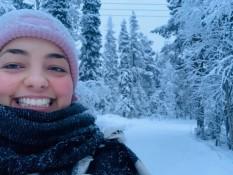 Bisschen im Schnee grinsen