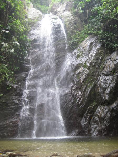 Wasserfall in Tayrona.