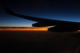Sonnenaufgang über Saudi Arabien
