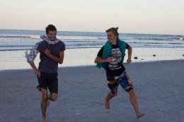 Lauft!! Florian und Michèl