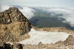 Ein Vulkankrater mit Eis. An Lisl: leider keine Lava!