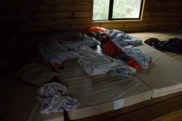 Da schlafen wir, ausnahmsweise mal nicht im Zelt