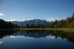 Die Berge mit See