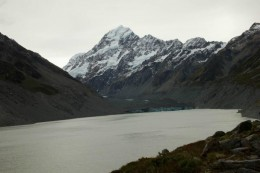 Hooker Lake und Aoraki/Mt. Cook