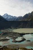 Der Gletscherseemit Blick auf Mt. Cook am Kea Point