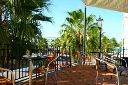 Der Ausblick vom café-Balkon