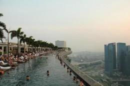Geile Aussicht vom Marina Bay Strand Hotel