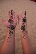 Frische Henna-Tattoos