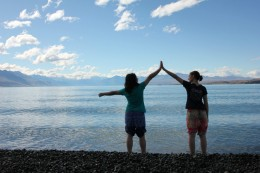 Lake Pukaki und wir Hübschen