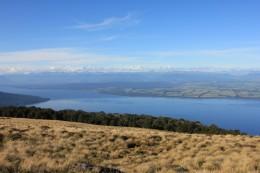 On top of the world-Blick auf Lake Te Anau