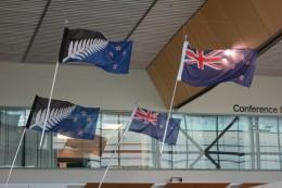 Neue und alte Flagge
