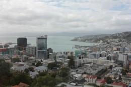 Blick auf Wellington aus dem 5. Stock der Uni