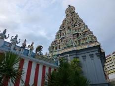 Hindu Tempel von der Seite