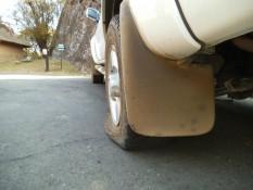 Rettungslos platter Reifen...