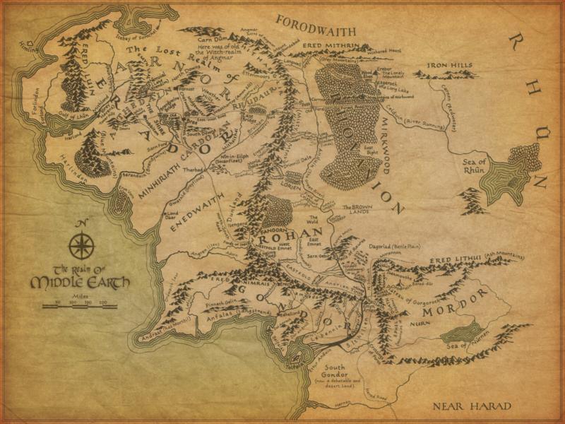 Eine Karte von Mittelerde :)