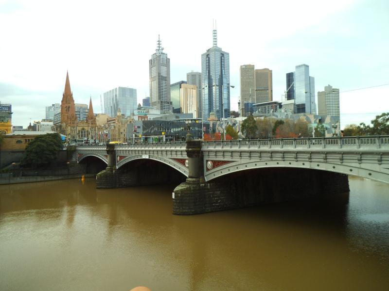 Blick auf Melbournes Zentrum