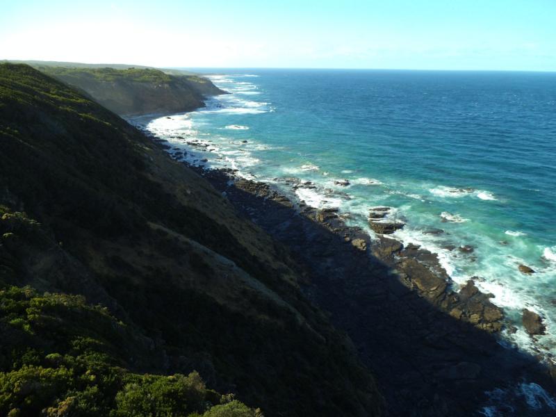 Endlose Küstensstreifen an der Great Ocean Road