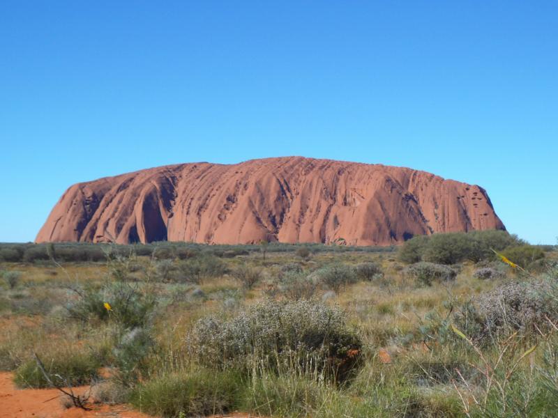Uluru im Postkartenformat