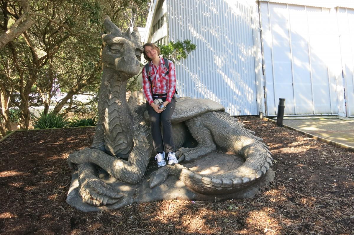 Granpa Dragon im Zoo von Wellington