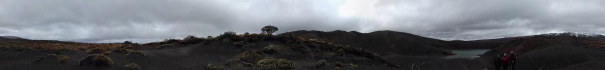 Panoramaaufnahme im Tongariro Nationalpark