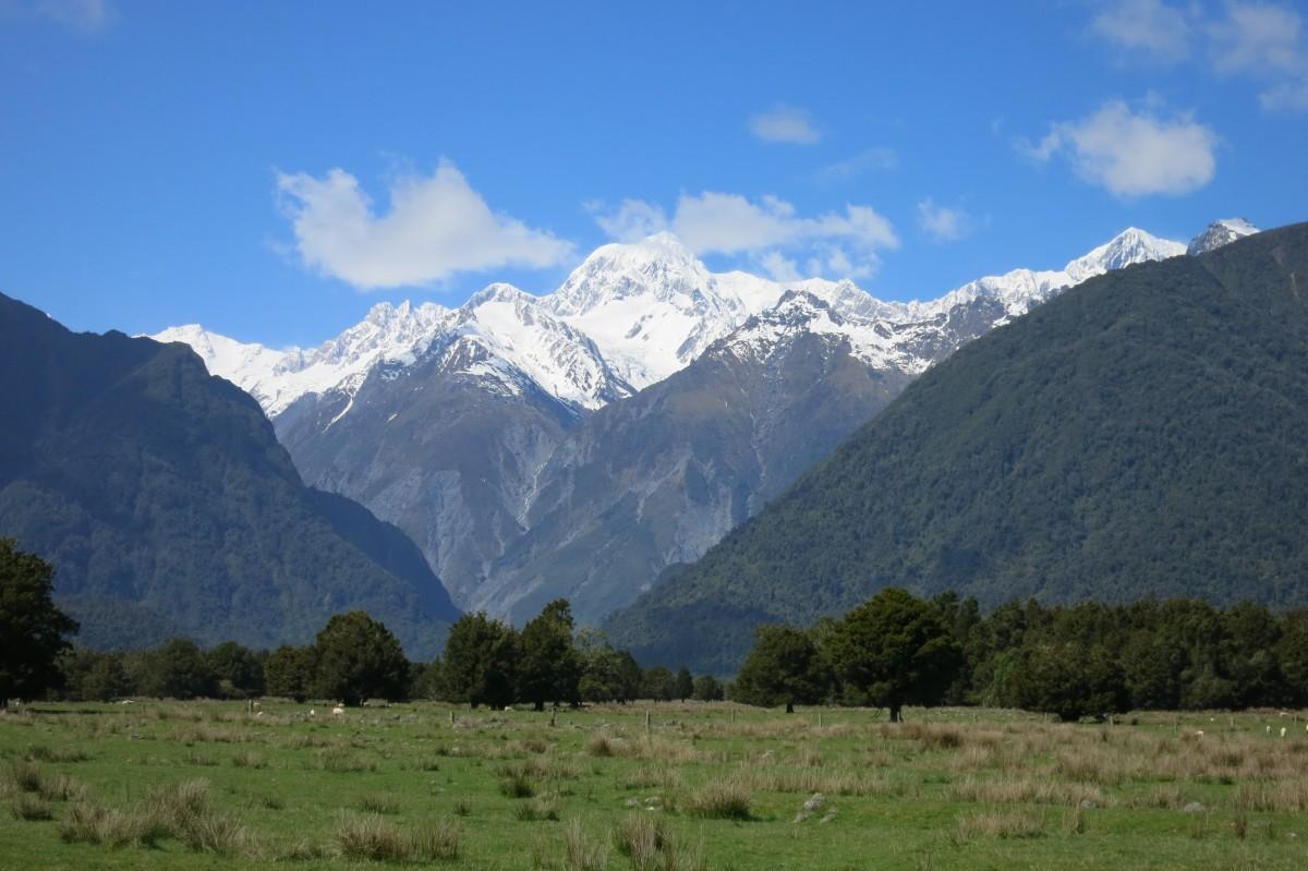 Perfekter Blick auf Mount Cook, den höchsten Berg Neuseelands