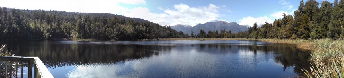 Panoramabild von Lake Matheson