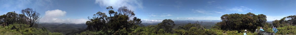 Panoramafoto vom Mount Tomaniivi aus (360 Grad)