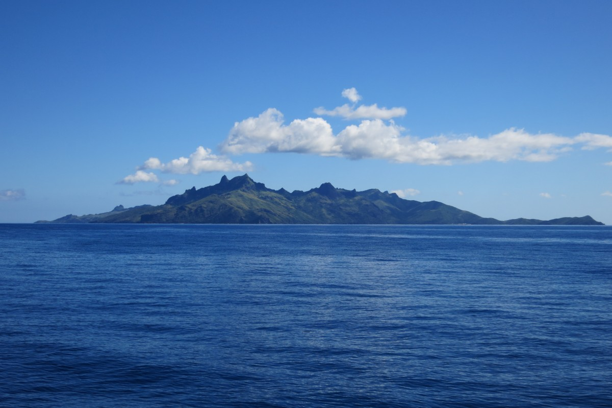 Blick auf Waya Island (Yasawa Islands) vom Yasawa Flyer aus