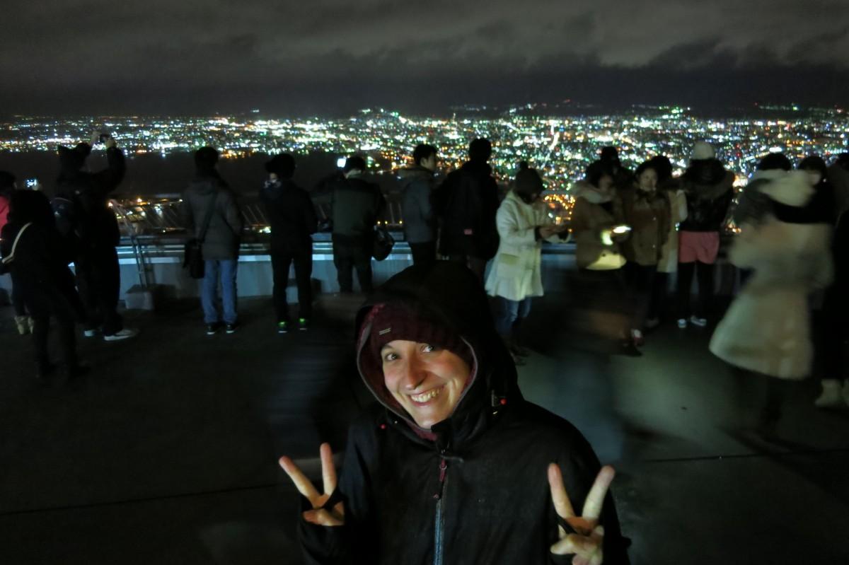 Man beachte die ganzen japanischen Touristen. Irre! (Mount Hakodate)