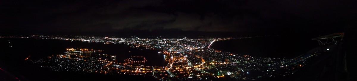 Blick von Mount Hakodate (Panoramafoto)
