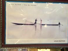 Ein altes Plakat von Louis Vuitton