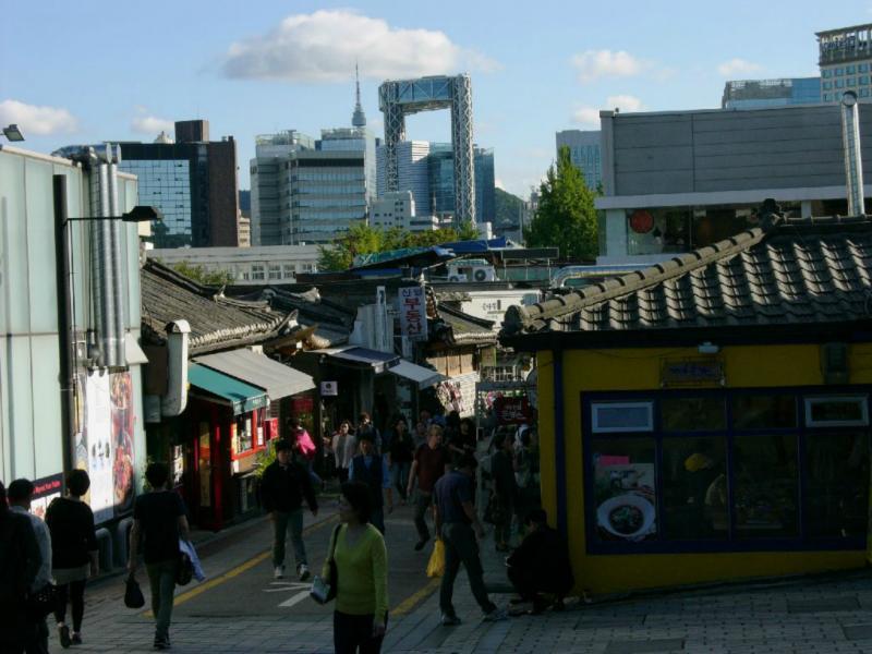 Bukchon, Blick auf Seoul Downown