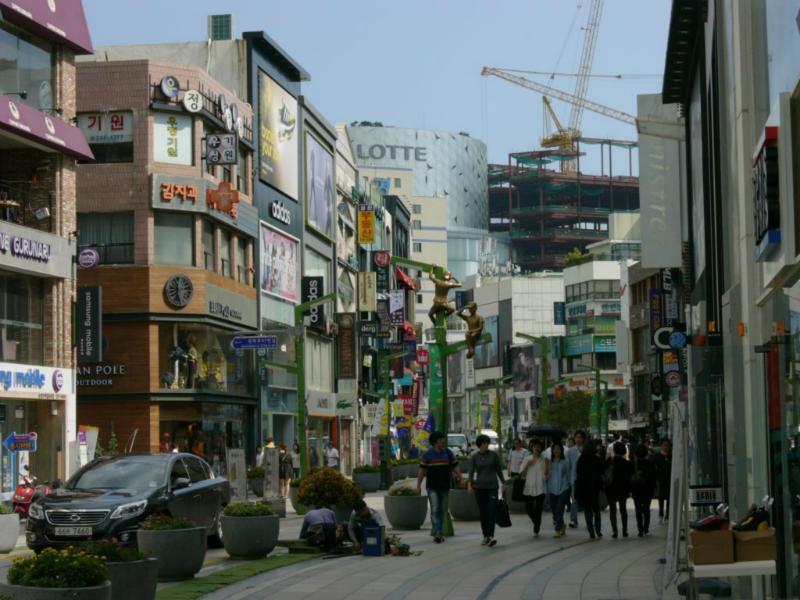 Straßenszene in Busan, Nampo-dong
