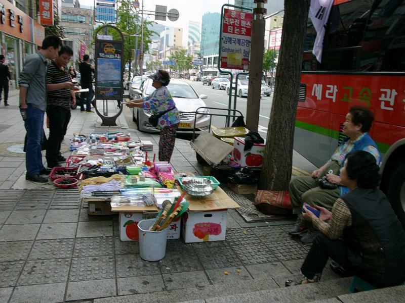 Typische Straßenverkäufer