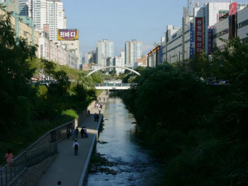 Changgyecheon Flusslauf in Seoul
