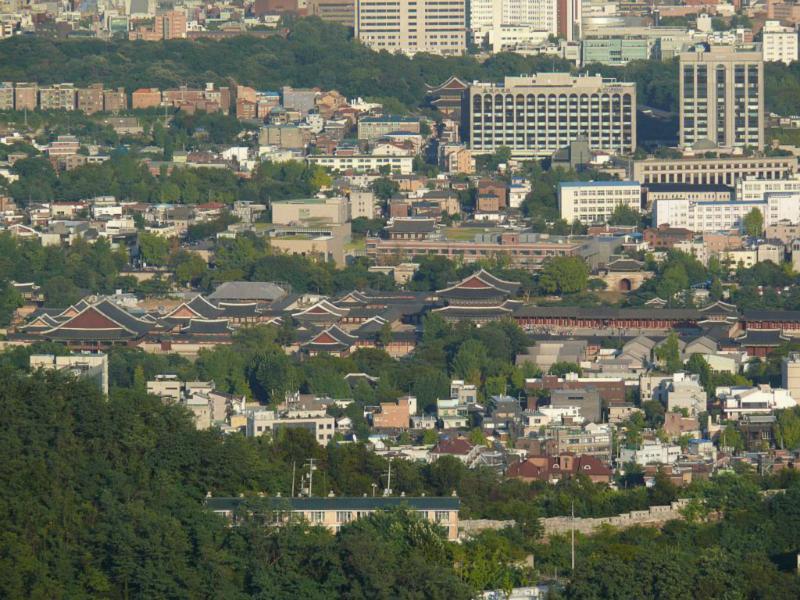 Der Gyeongbokgung Palast, einer von fünf