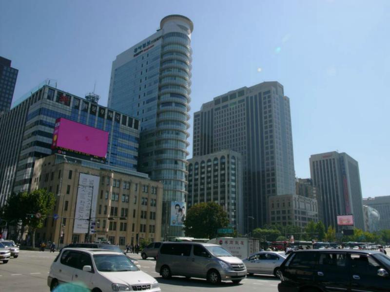 Bebauung an der Gwanghwamun Straße