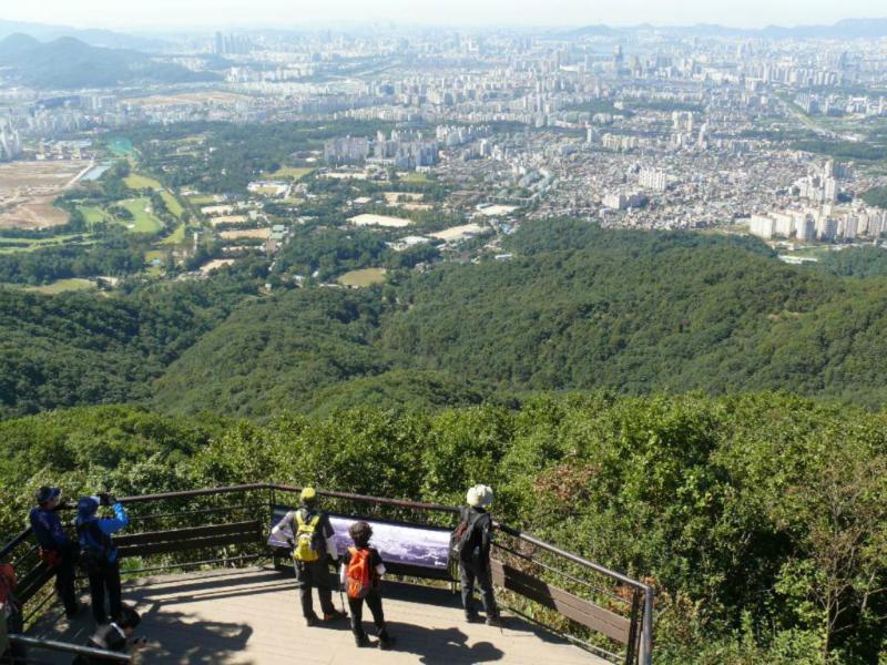 Landschaftsimpression - Blick auf Seoul