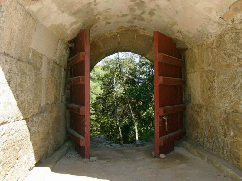 Heute steht das Tor offen - kein Grund mehr...