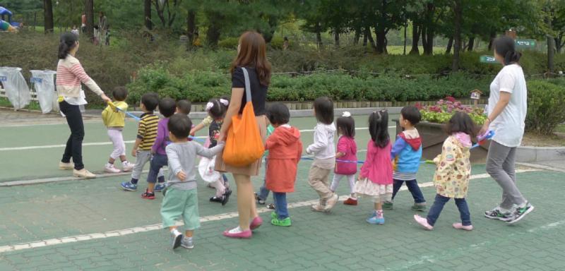 Kinder sind stets an der Leine zu führen