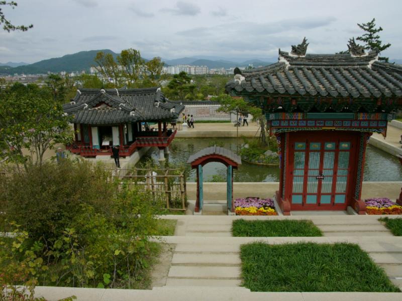 Blick vom koreanischen Garten