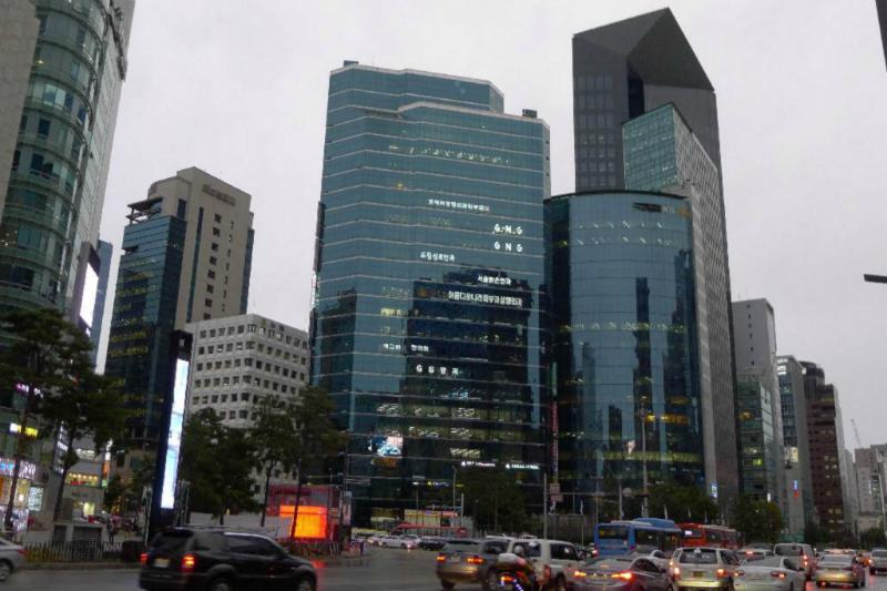 Gangnam Style Architektur Ensemble