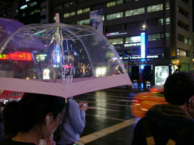 Schirm mit Durchblick