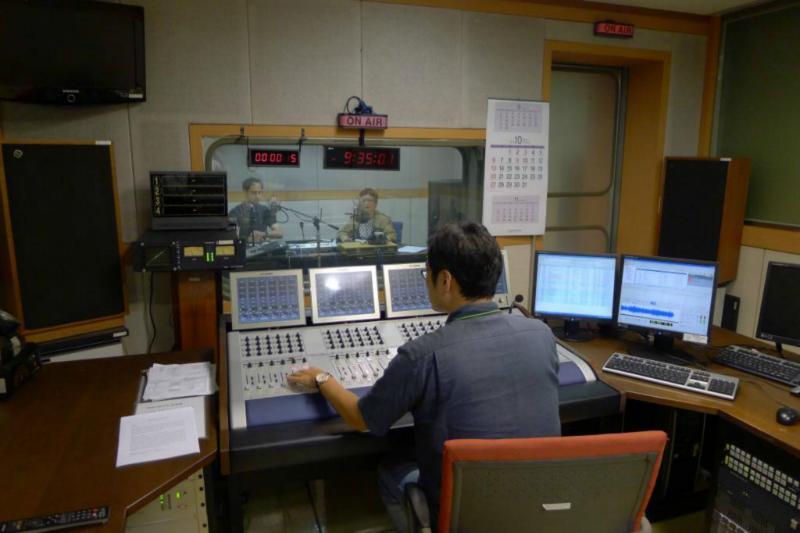 Im Aufnahmestudio von KBS World Radio